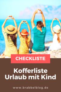 Checkliste Urlaub mit Kind