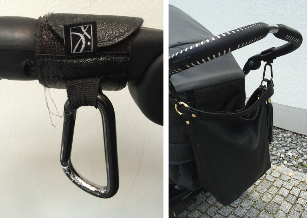 praktische handtaschen haken f r kinderwagen buggy. Black Bedroom Furniture Sets. Home Design Ideas