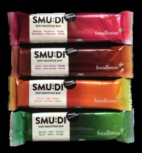 Die neuen SMU:DI Riegel von foodloose