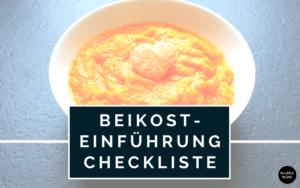 Beikost-Einführung Checkliste