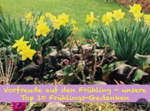 Vorfreude auf den Frühling - unsere Top 10 Frühlings-Gedanken