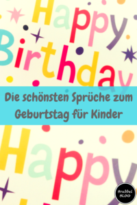 Die Schonsten Spruche Zum Geburtstag Fur Kinder