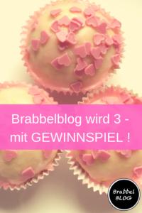 Brabbelblog wird 3 - mit Gewinnspiel