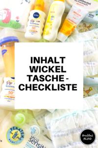 Inhalt der Wickeltasche - Checkliste
